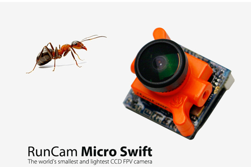 "LDARC RunCam Micro Swift摄像头  CCD: 1/3"" Sony SUPER HAD II CCD  2.1镜头 工作电压:5V-36V"